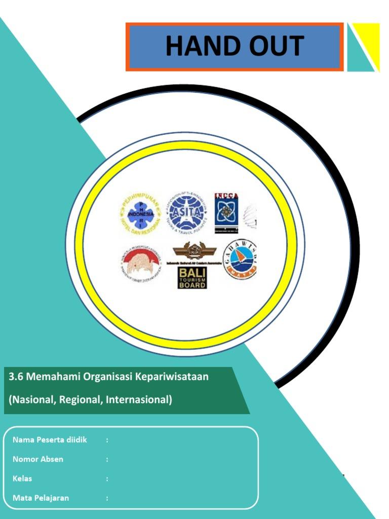 Hand Out Kd 6.6 Organisasi Kepariwisataan