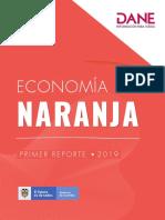Informe DANE 2019 Economía Naranja