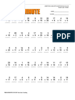 Web Math Minute AddMult 0-20