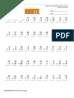 Web Math Minute AddSub 0-20
