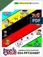 Relogio Do Plano Perfeito-pej- Quadrado e Redondo Impressão