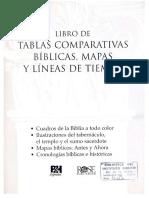 B&H Español (2012). Libro de Tablas Comparativas Biblicas, Mapas y Líneas de Tiempo