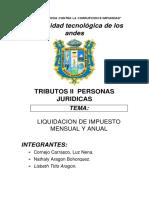 Liquidacion de Impuestos Mensual y Anual Con Ejemplo