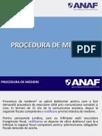 GHID ANAF - procedura de mediere 2019