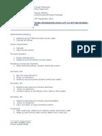 Work Programme for Maintenance 2014 September