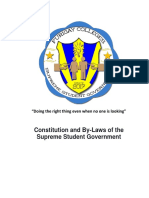 Constitution and by-Laws of the Supreme Student Government