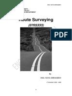 Eng. Raid Arrhaibeh Route Surveying 2016