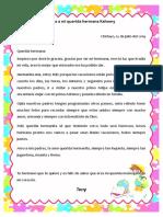Carta A MI HERMANA