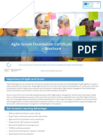 Agile and Scrum Foundation - Brochure