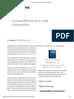 A Importância Do E-mail Corporativo - Infonova