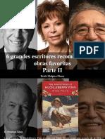 Erick Malpica Flores - 6 Grandes Escritores Recomiendan Sus Obras Favoritas, Parte II