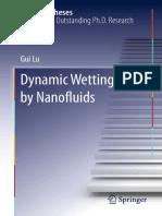 Dynamic Wetting by Nanofluids-Gui Lu (auth.)