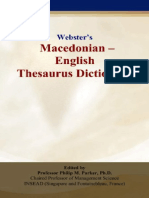Webster's Macedonian - English Thesaurus Dictionary