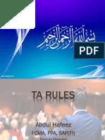 TA DA rules