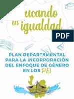 Educando en igualdad. Plan Departamental para la incorporación del enfoque de género en los PEI