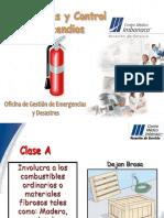 Clasificacion de Los Incendios - Areas Cmi 2014