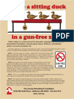 You're a sitting duck in a gun-free zone