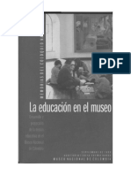 La educación en el museo