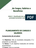 Aula 2- Cargos, Salarios e Beneficios