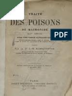 Maimonide Traite Des Poisons