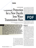 Cathodic Protection for a New Ductile Iron Water Transmission Main