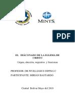 I- Diaconos,Ancianos y Pastores de La Iglesia