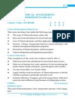 Chemical Engineering Thermodynamics-I