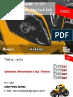 Apostila Operação, Manutenção e Esp. Tecnica - Série T CVT Rev06