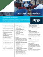 BMI e-Ticket on Amadeus