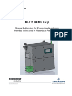 Manual Mlt2 Cems Ex p Manual Addendum for Pressurized Analyzers Rosemount en 73028