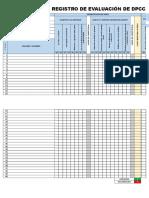Registro de Evaluacion de Dpcc