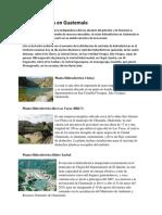 el sector hidroeléctrico en Guatemala