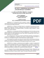 Ley Organica de La Administracion Publica Del Estado de Baja California