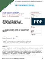 EL DESPIDO DISCIPLINARIO POR INCUMPLIMIENTO GRAVE DE LAS OBLIGACIONES LABORALES EN EL ORDENAMIENTO JURÍDICO CHILENO.pdf