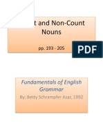 Count- And Non-Count Nouns