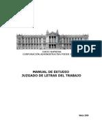 Corporación administrativa poder judicial - Manual tribunales laborales