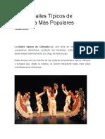 Los 25 Bailes Típicos de Colombia Más Populares
