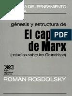 Genesis y estructura de El capital de Marx  - RomanRosdolsky