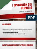 Fase de Operación Del Servicio