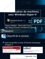 Virtual is at Ion de Machines Avec Windows Hyper-V