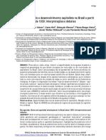 Burguesia, Estado e Desenvolvimento Capitalista No Brasil a Partir