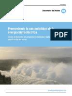 Promoviendo la sostenibilidad de la energía hidroeléctrica