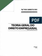 Teoria Geral Direito Empresarial Fgv Rio 2014 2