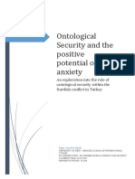 Ontological Security and the Positive Potential of Anxiety