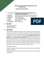 Proyecto Especialización Docente 2019