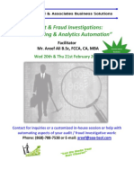 Audit Fraud Investigations