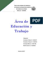 Areas de Educacion y Trabajo