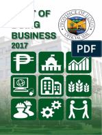 Cost of Doing Business - Province of Iloilo - 2017