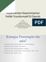 Drs. Suyoto Implementasi Kepemimpinan Politik Di Daerah