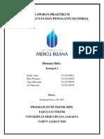 Laporan Praktikum Bahan Bangunan Dan Pengganti Material (Kel. 2)